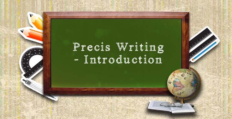 Write A Precis